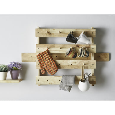 FANCY Wood Pallet Hanging Rack