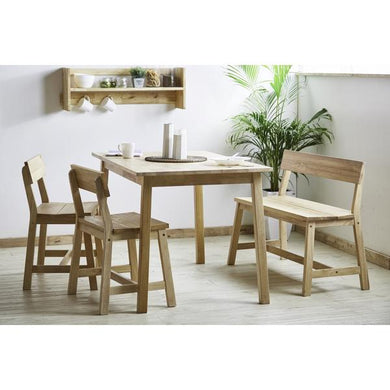 MONTANA Dining Set (T+2x Chair + 1x Bench)