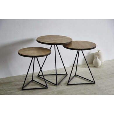 【PRE-ORDER】 TRIANGLE Nesting Table Set