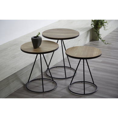 【PRE-ORDER】 ROUND Nesting Table Set
