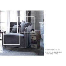 【Clearance】 My Signature Londoner (런더너) 1 Seater (R) Sofa (White Black)