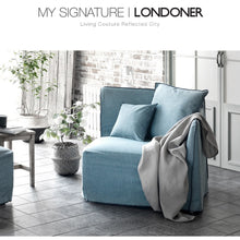 【Clearance】 My Signature Londoner (런더너) 1 Seater (L) Sofa (Mint Black)