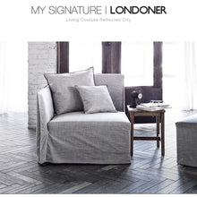 【Clearance】 My Signature Londoner (런더너) 1 Seater (R) Sofa (Woven Beige)