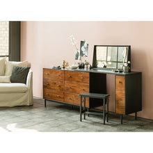 Tyme (천천히해) Extendable 6-Drawer Wide Chest Set w/ Mirror & Stool