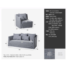 【Clearance】 My Signature Londoner (런더너) 1R+3 Seater Sofa (White Black)