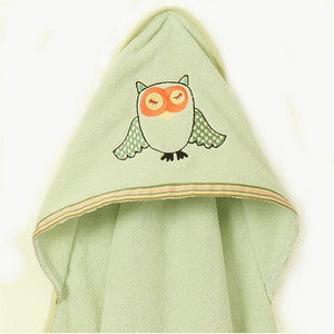 Hooded Towel - Sleepy Owl