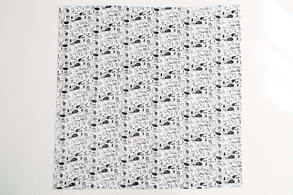 Organic Cotton Large Muslin Wrap - Wild Things