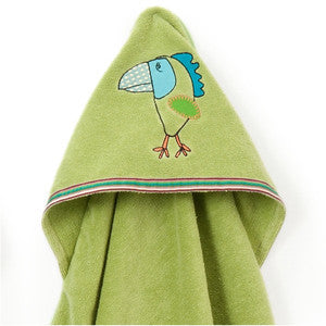 Hooded Towel - Funny Bird