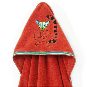 Hooded Towel - Happy lemur
