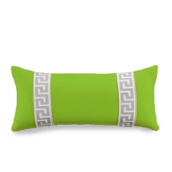 Bolster Pillow - Lime with Greek Key Shop All,Last Call SALE Springs