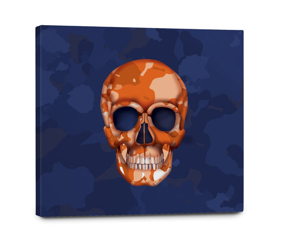 Canvas - Skull Camo Navy/Orange Shop All MWW 20 x 30