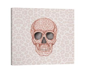 Canvas - Skull Tanzania Millennial Pink throw LeighDeux, LLC