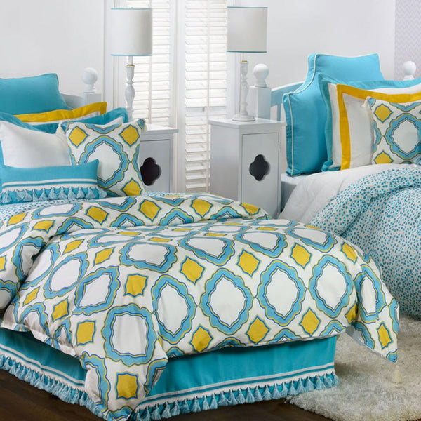 Curtain Call Bed Skirt - Aqua Last Call SALE,Shop All,Bedding Collections Springs