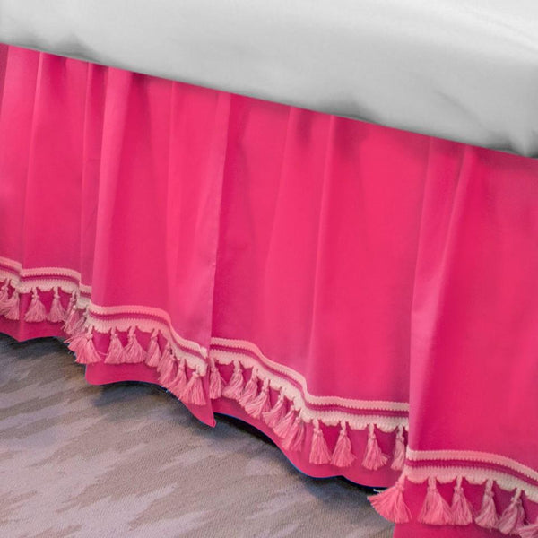 Curtain Call Bed Skirt - Candy Pink Last Call SALE,Shop All,Bedding Collections Springs Twin XL