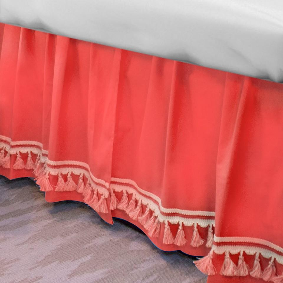 Curtain Call Bed Skirt - Coral Shop All,Bedding Collections,Last Call SALE Springs Twin XL