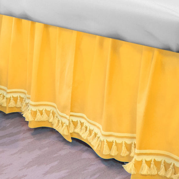 Curtain Call Bed Skirt - Corn Yellow Shop All,Bedding Collections,Last Call SALE Springs Twin XL