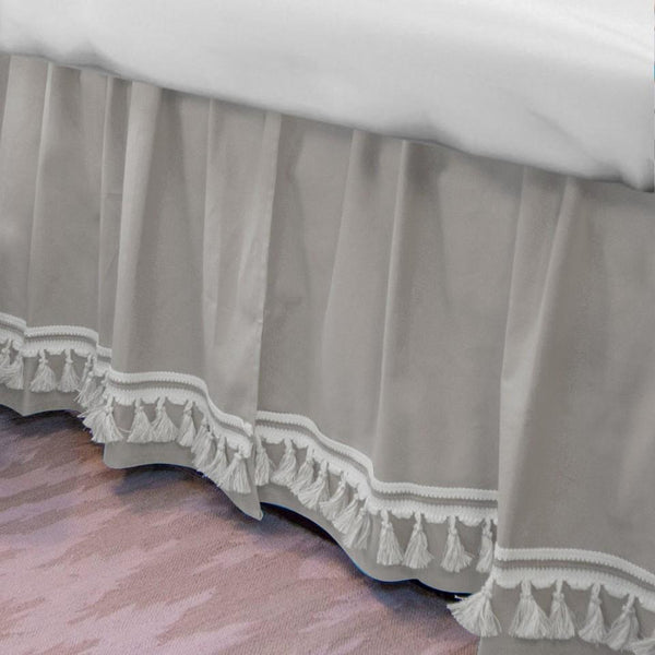 Curtain Call Bed Skirt - Grey Shop All,Bedding Collections,Last Call SALE Springs