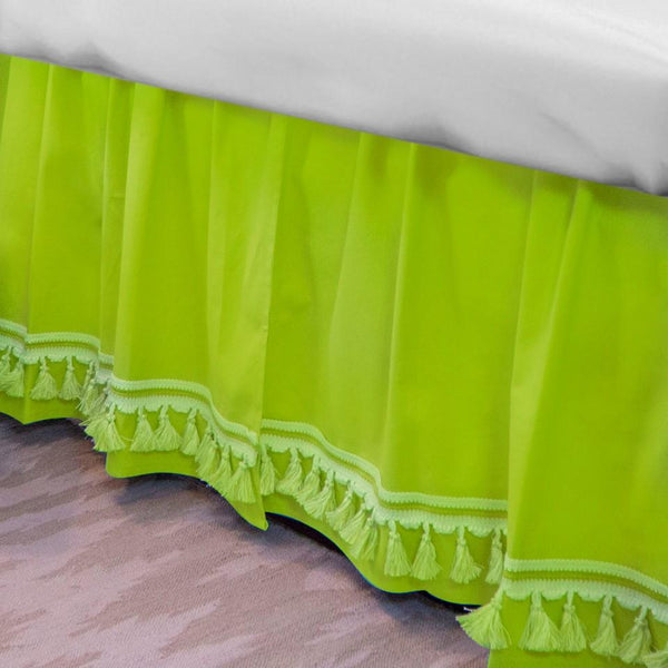 Curtain Call Bed Skirt - Lime Last Call SALE,Shop All,Bedding Collections Springs Twin XL