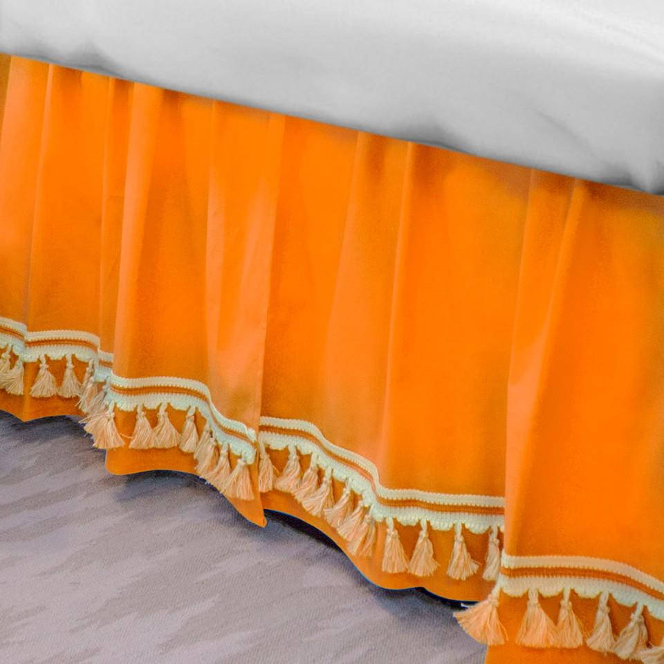 Curtain Call Bed Skirt - Mandarin Last Call SALE,Shop All,Bedding Collections Springs Twin XL