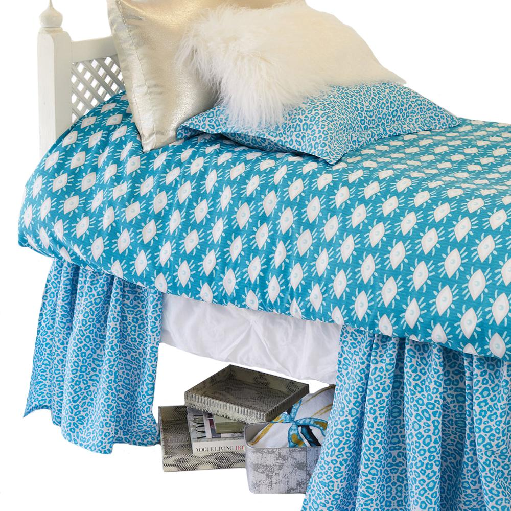 Curtain Call Bed Skirt - Tanzania Peacock Bedding Collections,Shop All Springs Twin XL