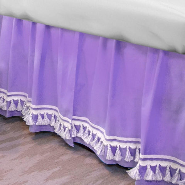 Curtain Call Bed Skirt - Thistle Purple Last Call SALE,Shop All,Bedding Collections Springs Twin XL