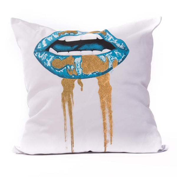 Euro/Floor Pillow - Lips Peacock Shop All MWW