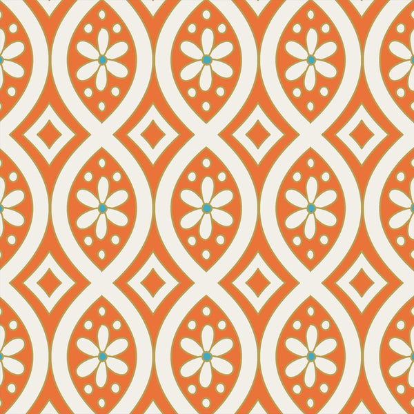 Fabric by the Yard - Jasmine Mandarine Springs