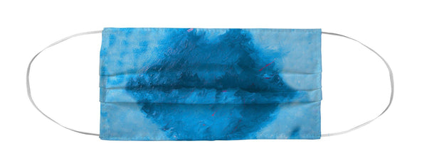 Face Mask Coverlet - Pucker Lips Aqua MWW