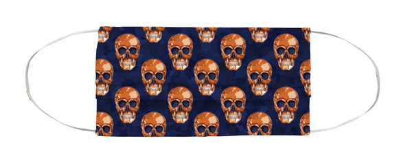 Face Mask Coverlet - Skull Camo Navy/Orange Shop All MWW
