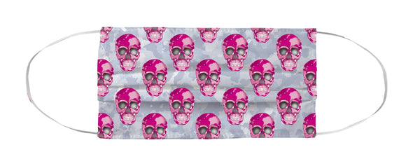 Face Mask Coverlet - Skull Camo Nero/Pink Shop All MWW