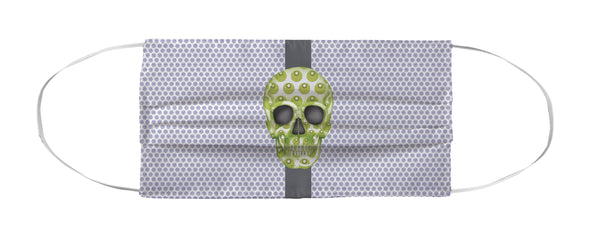 Face Mask Coverlet - Skull Luna Stripe Lavender/Lime Shop All MWW