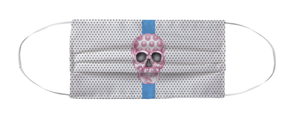 Face Mask Coverlet - Skull Luna Stripe Nero/Pink Shop All MWW