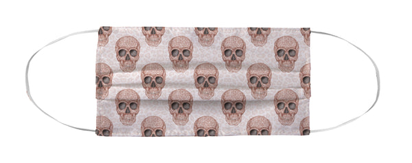 Face Mask Coverlet - Skull Tanzania Millennial Pink Shop All MWW