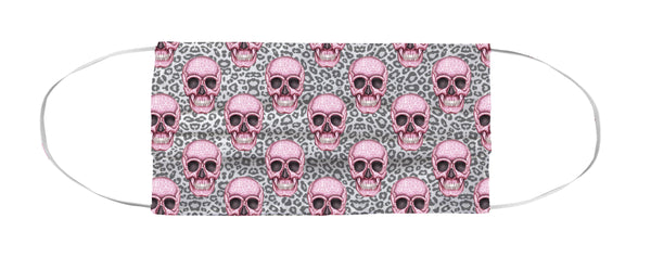 Face Mask Coverlet - Skull Tanzania Nero/Hot Pink Shop All MWW