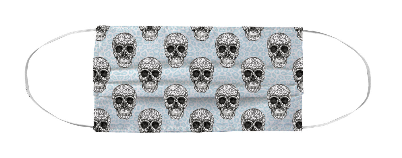 Face Mask Coverlet - Skull Tanzania Nero/Peacock Shop All MWW