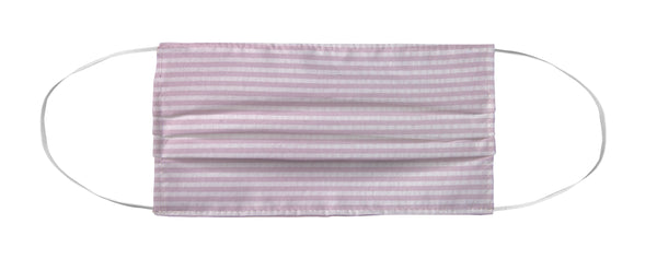 Face Mask Coverlet - The 'Lauren' Pink Seersucker MWW
