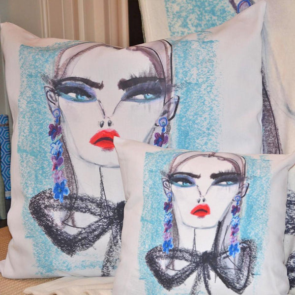 Fashionista Euro/Floor Pillow - Teal Shop All MWW