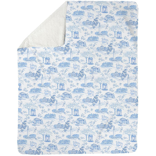 Fleece Blanket - Tarheel Toile MWW