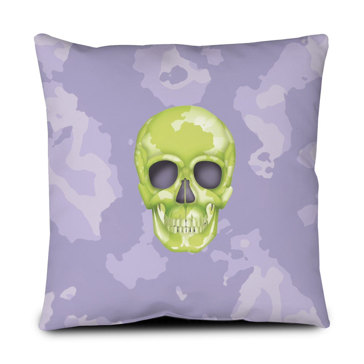 Floor Pillow - Skull Camo Lime Green/Lavender throw LeighDeux, LLC