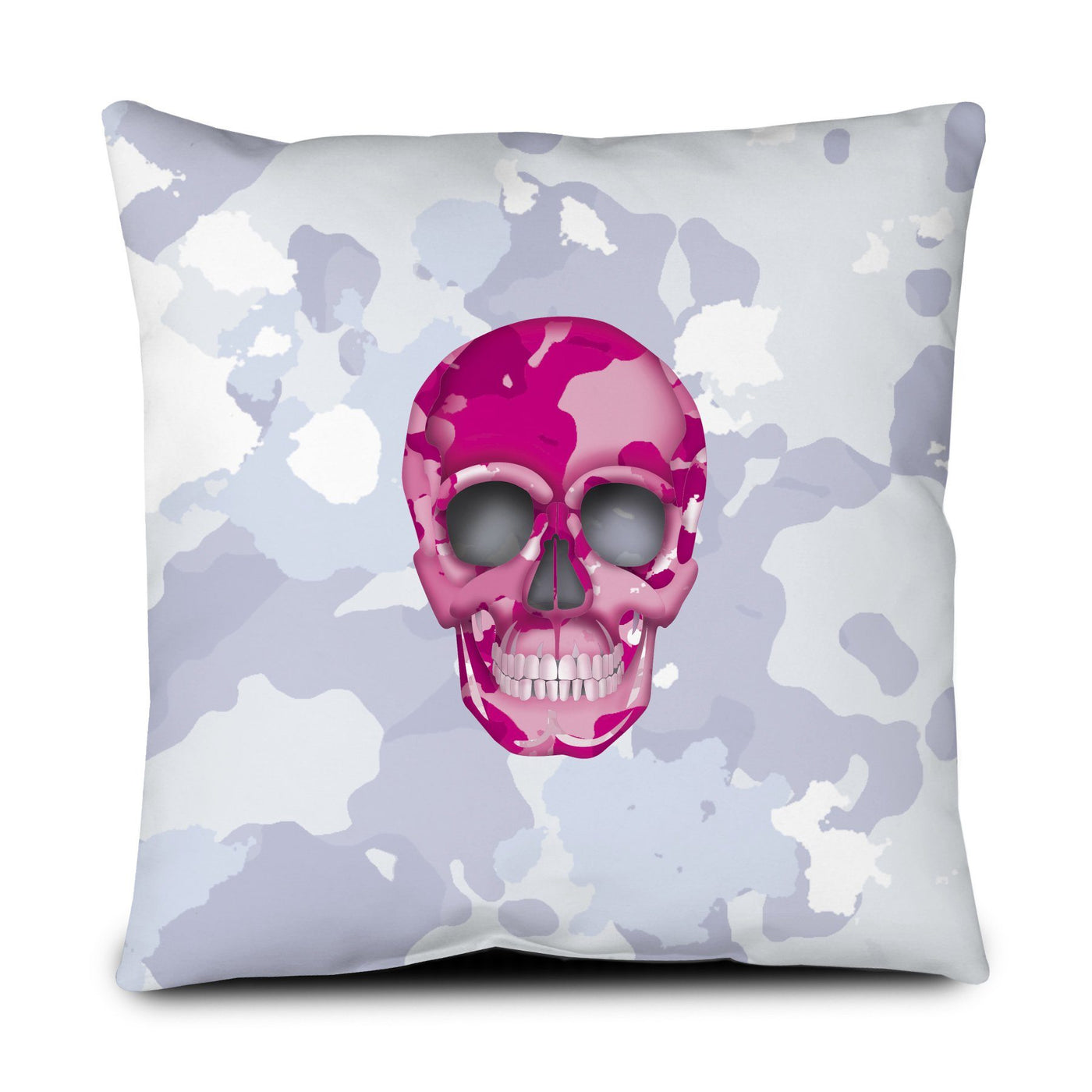 Floor Pillow - Skull Camo Nero/Pink throw LeighDeux, LLC