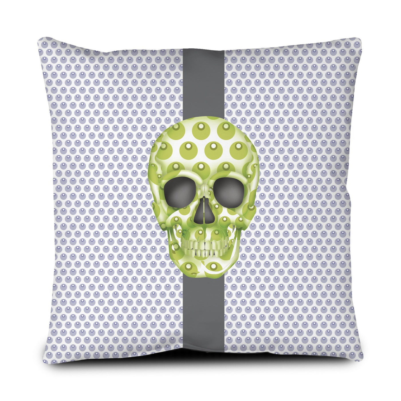 Floor Pillow - Skull Luna Stripe Lavender/Lime throw LeighDeux, LLC