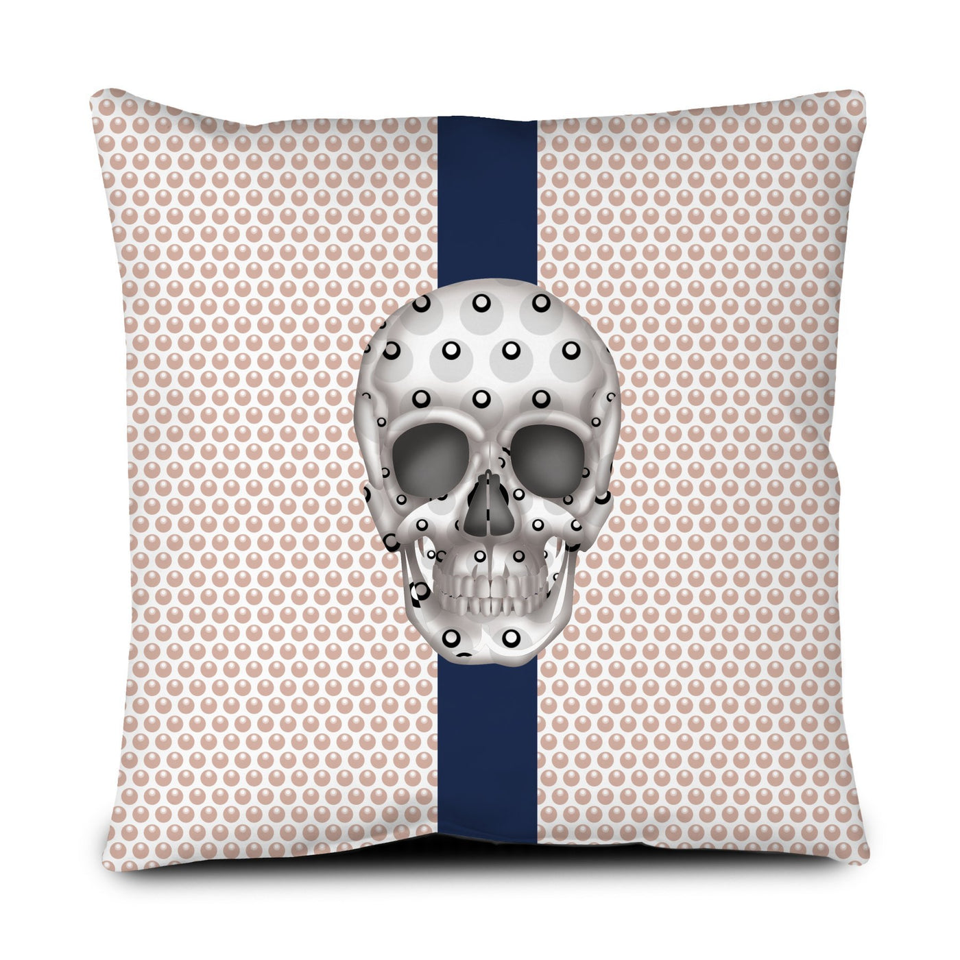 Floor Pillow - Skull Luna Stripe Millennial/Nero throw LeighDeux, LLC