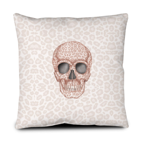 Floor Pillow - Skull Tanzania Millennial Pink throw LeighDeux, LLC