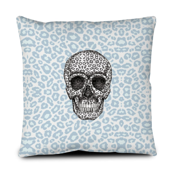 Floor Pillow - Skull Tanzania Nero/Peacock throw LeighDeux, LLC