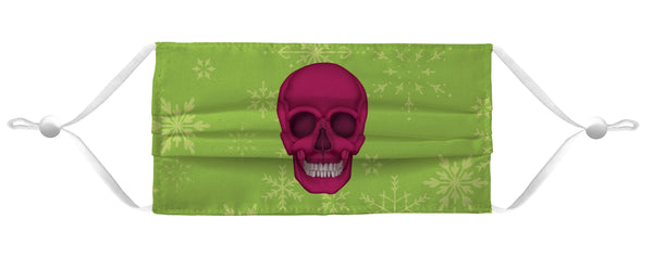 Holiday Face Mask Coverlet - Skull Lime Shop All MWW