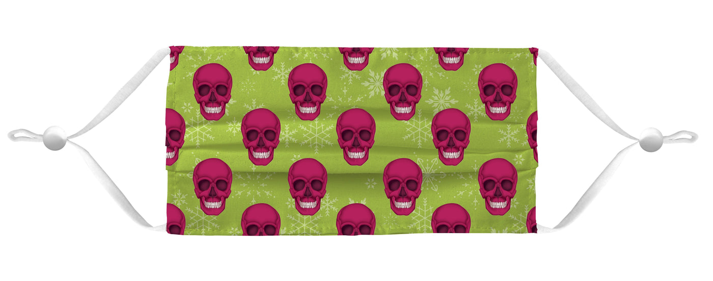 Holiday Face Mask Coverlet - Skull Lime/Red Shop All MWW