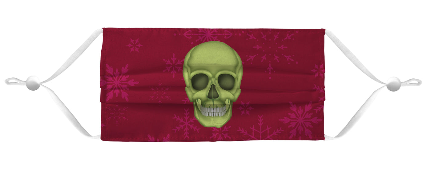 Holiday Face Mask Coverlet - Skull Red Shop All MWW