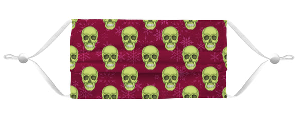Holiday Face Mask Coverlet - Skull Red/Lime Shop All MWW