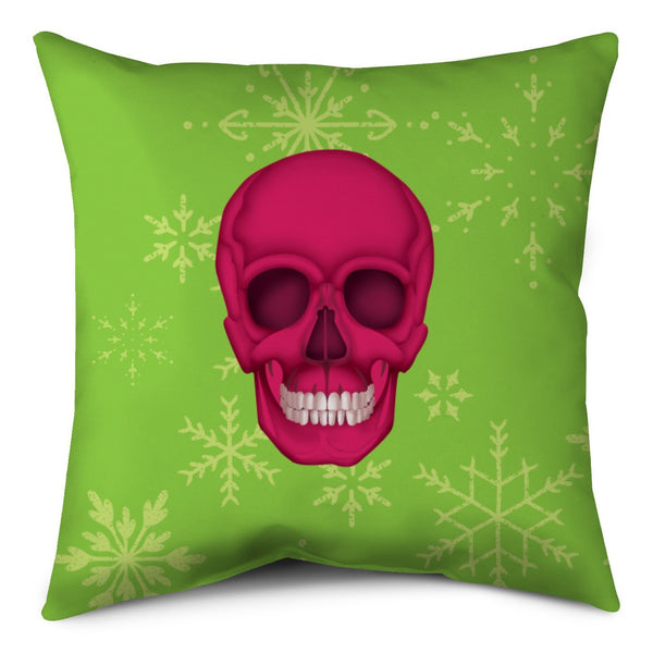 Holiday Throw Pillow - Skull Lime Shop All MWW
