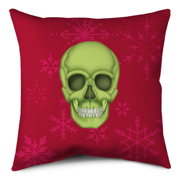 Holiday Throw Pillow - Skull Red Shop All MWW